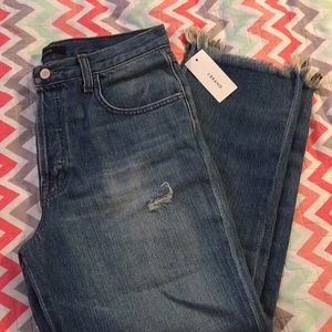 J brand Jeans / Blue Cropped straight Button Fly